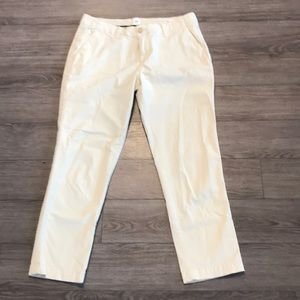 Gap girlfriend chino cream side embroidery size 8